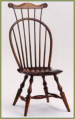 Bow-back-with-a-Comb Windsor Chair from Richard Grell