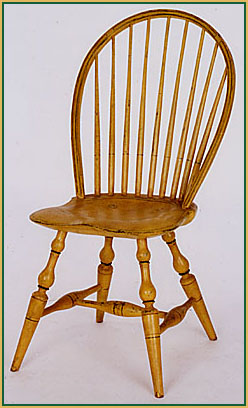 Bow-back Aged Paint Windsor Chair from Richard Grell