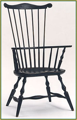 Comb-back_Dark-Green-Finish Windsor Chair from Richard Grell