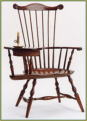 Comb-back_Writing-arm Windsor Chair from Richard Grell