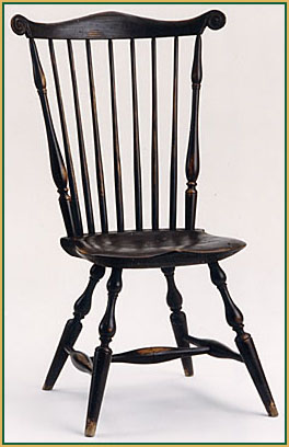 Fan-back_Dark-Brown Windsor Chair from Richard Grell