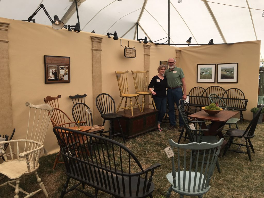 """Zoar 2016 -- Gay and Richard Grell showcased their Windsors at the 43rd Annual Harvest Festival & Antique Show in Zoar, Ohio"""
