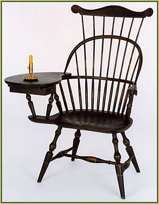 Hoop-back-Writing-arm_with-a-Comb Windsor Chair from Richard Grell