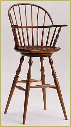 Hoop-back_Bar-Stool Windsor Chair from Richard Grell