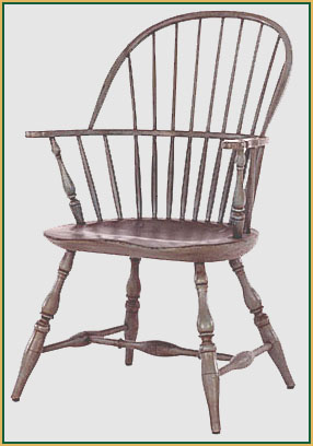 Hoop-back_or_Sack-back Windsor Chair from Richard Grell