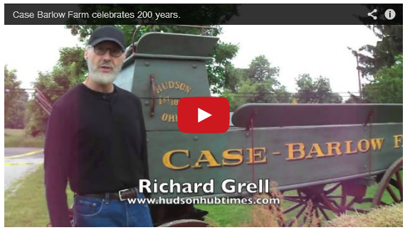 Richard Grell in a video about the aged paint finish and restoration project at the Case-Barlow Farm in Hudson Ohio