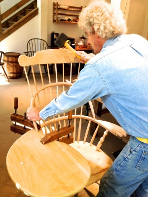 Masters class from Richard Grell Windsor Chairs and Workshops